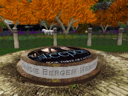 Beginning to the Silverwood Enclave, memorial for Sandie Bergen. The forest is complete and the gates are there. Still need to furbish Lindren's house and add some extra touches.